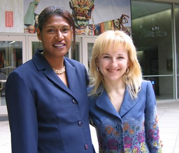 2006 Goldman Prize winners Annie Kajir and Olya Melen