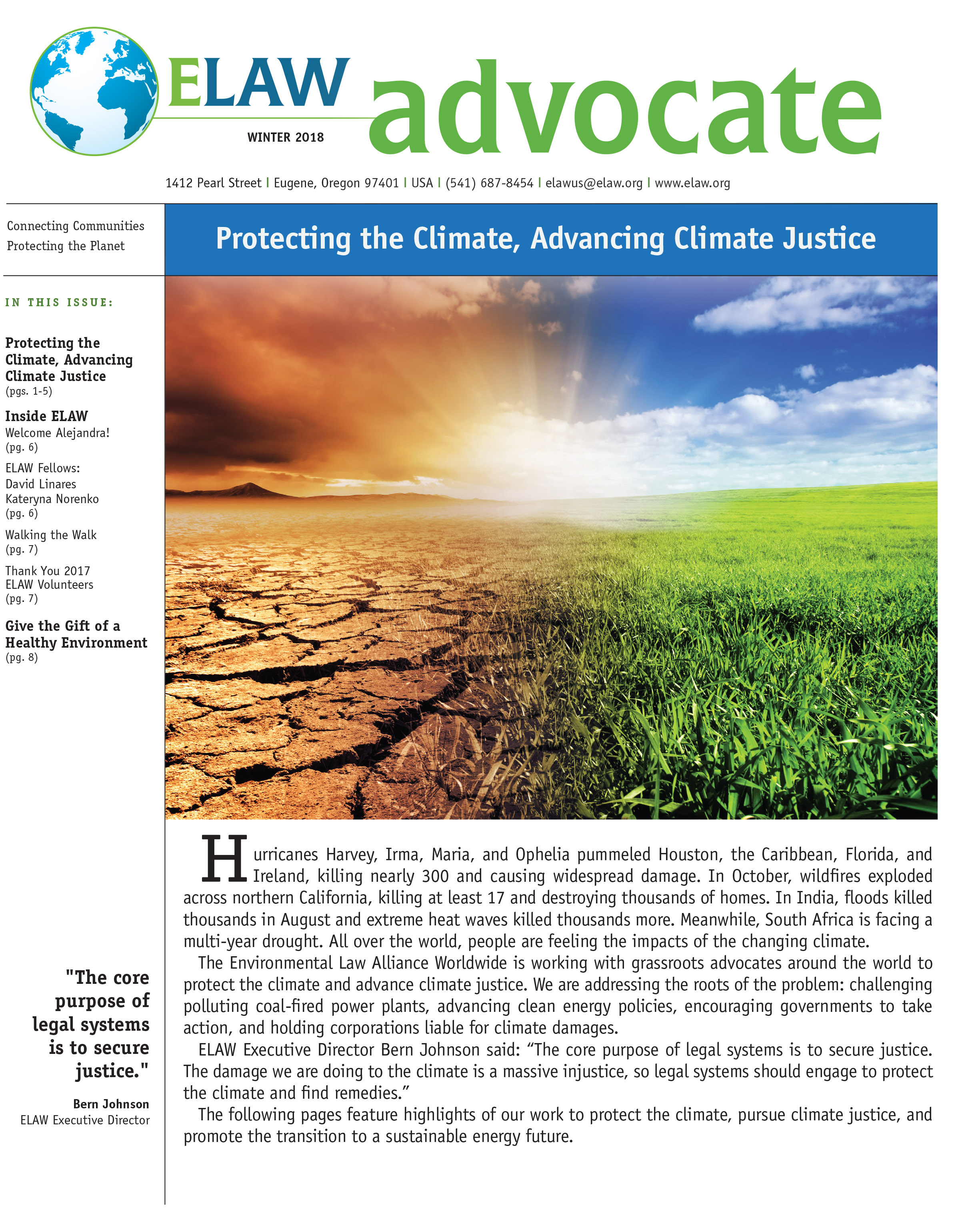ELAW Advocate, Winter 2018