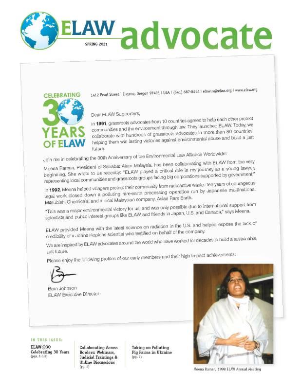 ELAW Advocate Spring 2021