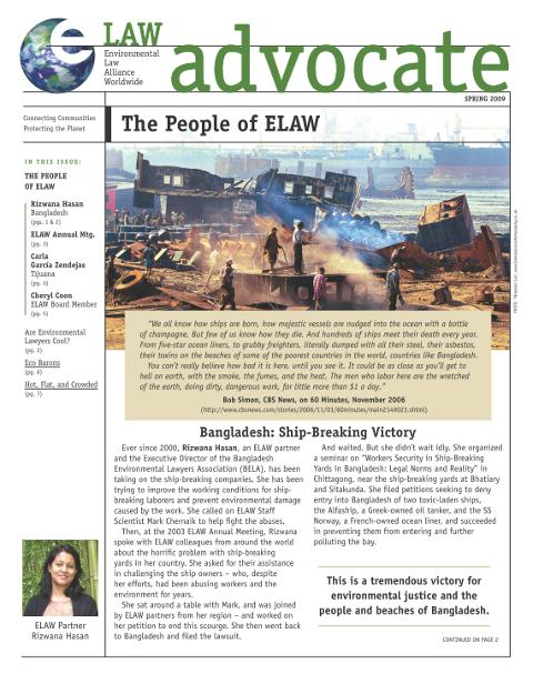 Spring, 2009: The People of ELAW