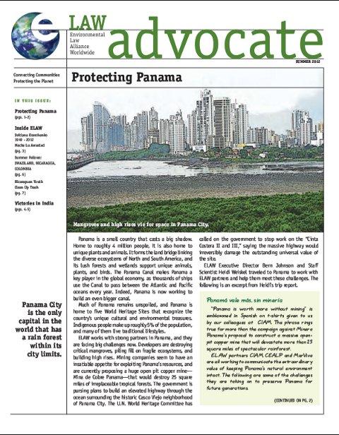 ELAW Advocate: Protecting Panama