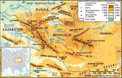 Mongolia and neighboring countries