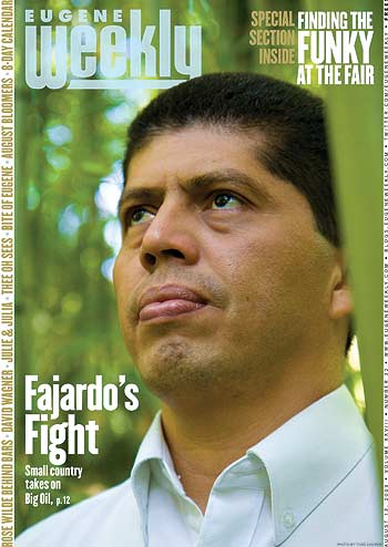 Pablo Fajardo in Eugene Weekly