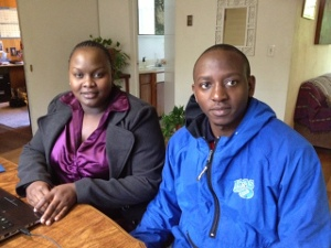 Kenyan attorney Benedette Mutuku and Tanzanian attorney Adolf Runyoro