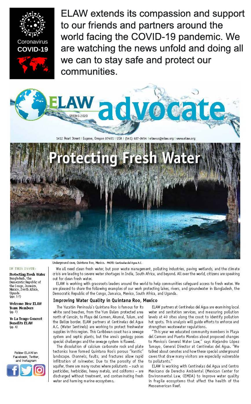 ELAW Avocate Spring 2020