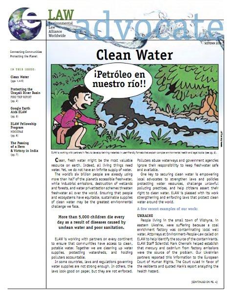 Autumn 2011: Clean Water