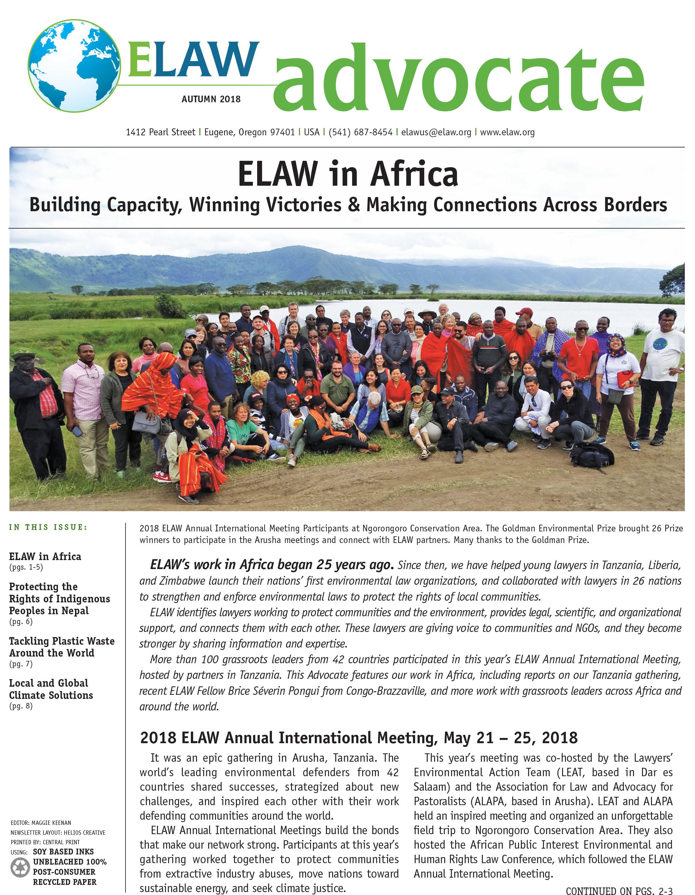 ELAW 2018 Advocate