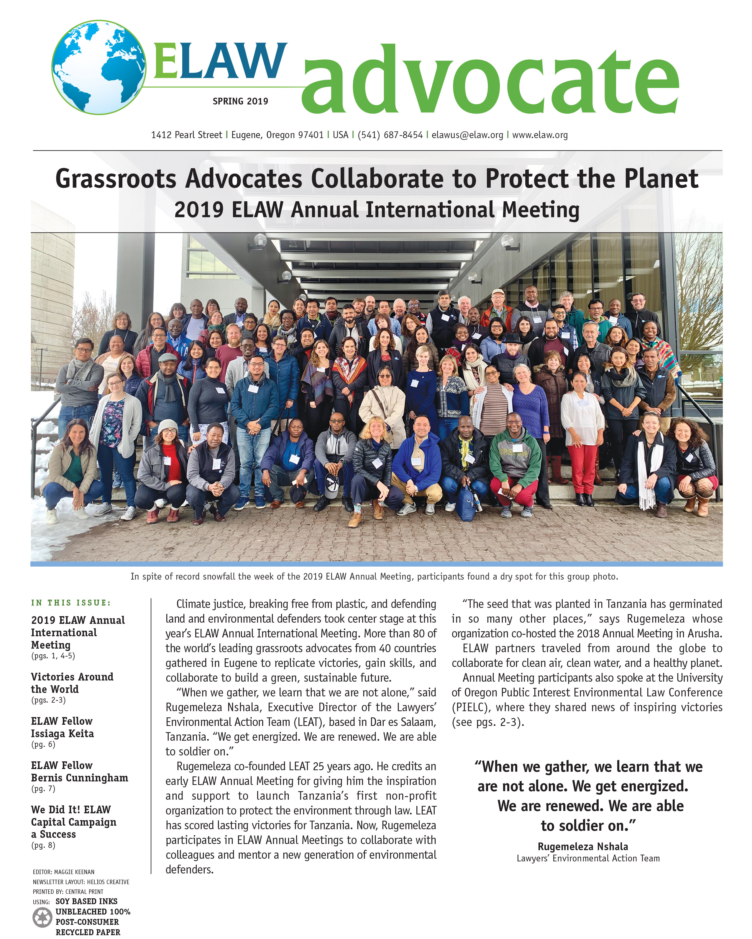 Grassroots Advocates Collaborate to Protect the Planet