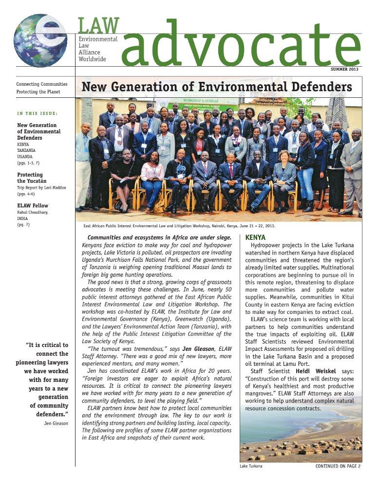 New Generation of Environmental Defenders, Summer 2013